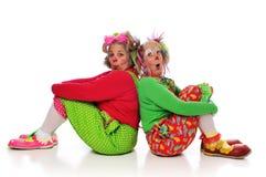Dois palhaços Fotografia de Stock Royalty Free