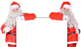 Dois Papai Noel fotografia de stock