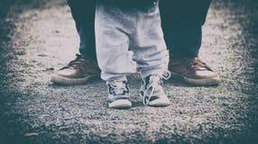 Dois pares de pés, Foto de Stock