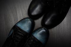 Dois pares de sapatos Imagens de Stock Royalty Free