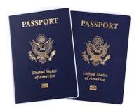 Passaportes americanos isolados Imagem de Stock