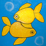 Dois peixes amarelos Fotos de Stock Royalty Free