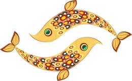 Dois peixes pequenos do ouro Fotografia de Stock Royalty Free