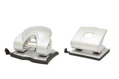 Dois perfuradores de furo isolados Imagem de Stock
