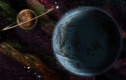 Dois planetas Fotografia de Stock Royalty Free