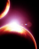 Dois planetas estrangeiros Imagem de Stock Royalty Free