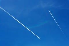 Dois planos no céu Imagens de Stock Royalty Free
