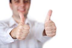 Dois polegares acima Imagem de Stock Royalty Free
