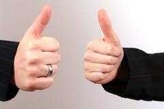 Dois polegares acima Fotografia de Stock