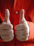 Dois polegares acima Imagens de Stock