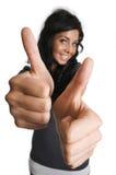 Dois polegares endireitam Fotografia de Stock