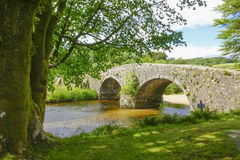 Dois-pontes Dartmoor Devon England Reino Unido Foto de Stock Royalty Free