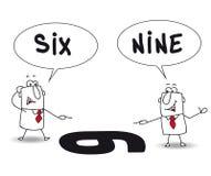 Dois pontos de vista ilustração stock