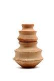 Dois potenciômetros de argila pequenos Imagem de Stock