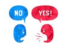 Dois povos com formas diferentes nublam-se a conversa para temas do disconto Foto de Stock