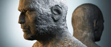 Dois povos de pedra no estúdio ilustração royalty free