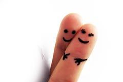 Dois povos no amor Fotografia de Stock Royalty Free