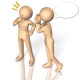 Dois povos para falar o segredo ilustração stock