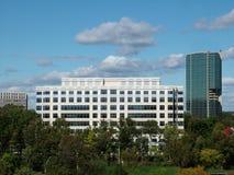 Dois prédios de escritórios Fotografia de Stock Royalty Free