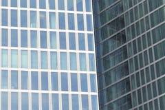dois prédios de escritórios - detalhe Fotografia de Stock Royalty Free