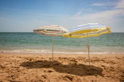 Dois praia Shaders Fotos de Stock