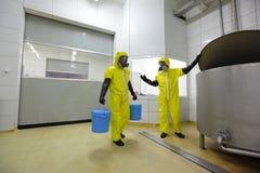 Dois profissionais no trabalho na planta Imagem de Stock