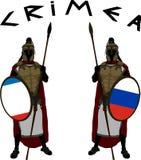 Dois protetores de Crimeia Ilustração do vetor Imagens de Stock