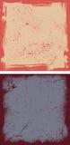 Dois quadros do grunge Fotografia de Stock Royalty Free