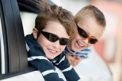 Dois rapazes pequenos Imagem de Stock Royalty Free