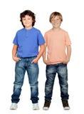 Dois rapazes pequenos Fotografia de Stock Royalty Free
