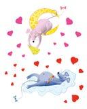 Dois ratos ilustração stock