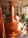 Cervejaria de Budvar, Ceske Budejovice, república checa Fotografia de Stock
