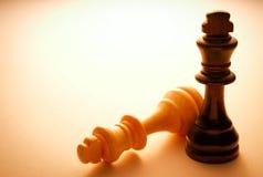 Dois rei de madeira Chess Pieces Imagem de Stock Royalty Free