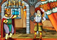 Dois reis - cena do conto de fadas Imagens de Stock