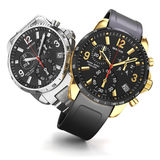 Dois relógios de pulso Imagem de Stock Royalty Free