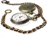 Dois relógios velhos Fotos de Stock Royalty Free