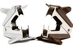 Dois removedores do grampo Foto de Stock Royalty Free