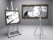 Dois retratos do bebê Fotografia de Stock Royalty Free