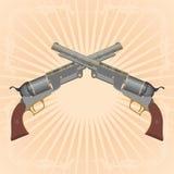 Dois revólveres Fotografia de Stock