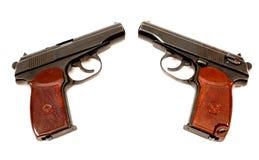 Dois revólveres do russo 9mm Fotos de Stock Royalty Free