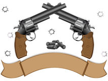 Dois revólveres Fotografia de Stock Royalty Free