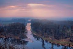 Dois rios fotografia de stock
