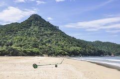 Dois Rios plaża w Ilha Grande wyspie, Brazylia fotografia royalty free