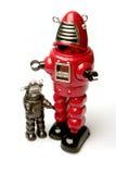 Dois robôs Fotos de Stock