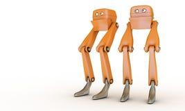 Dois robôs do brinquedo ilustração royalty free