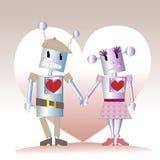 Dois robôs Imagem de Stock Royalty Free