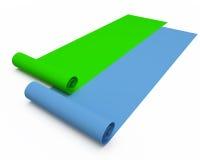 Dois rolos de papel Foto de Stock