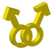 Dois símbolos masculinos Imagem de Stock Royalty Free