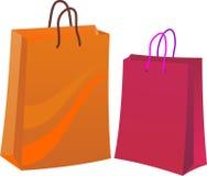 Dois sacos de compra Fotografia de Stock Royalty Free