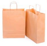 Dois sacos de papel ecológicos Fotos de Stock